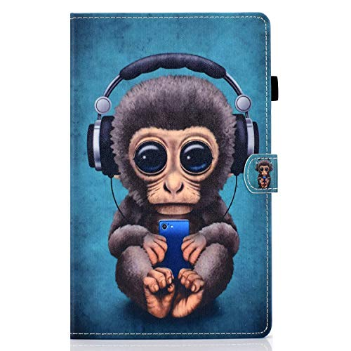 zl one Compatible con/reemplazo para Tablet PC Samsung Galaxy Tab A 10.1 'SM-T580/T585 PU cuero Flip Cover Stand Magnetic Wallet Case (mono)