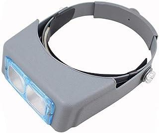 拡大鏡 ヘッドマウント虫眼鏡 - 4セットの高精細レンズが付いている修理用具の読書ギフト用ベルト1.5X 2X 2.5X 3.5X色違いなし高精細ハイパワーメガネ 写真拡大鏡多目的パーソナルルーペ