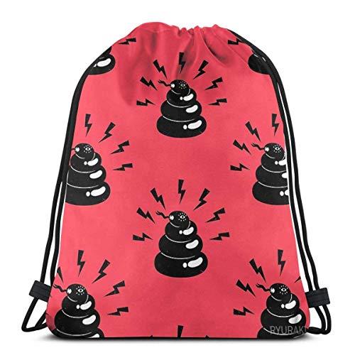 Yuanmeiju Not Poop But Snake Shoulder Bolsa con cordón Backpack String Bags School Rucksack Gym Sport Bag Lightweight