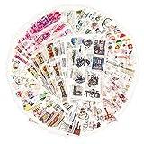 72 Blätter Scrapbooking Sticker Journal Sticker Erwachsene Washi Aufkleber Planner Aufkleber Decor Aufkleber 12 Themen Sortiert für Tagebuch Notizbuch DIY Kunst und Handwerk (Geheimer...