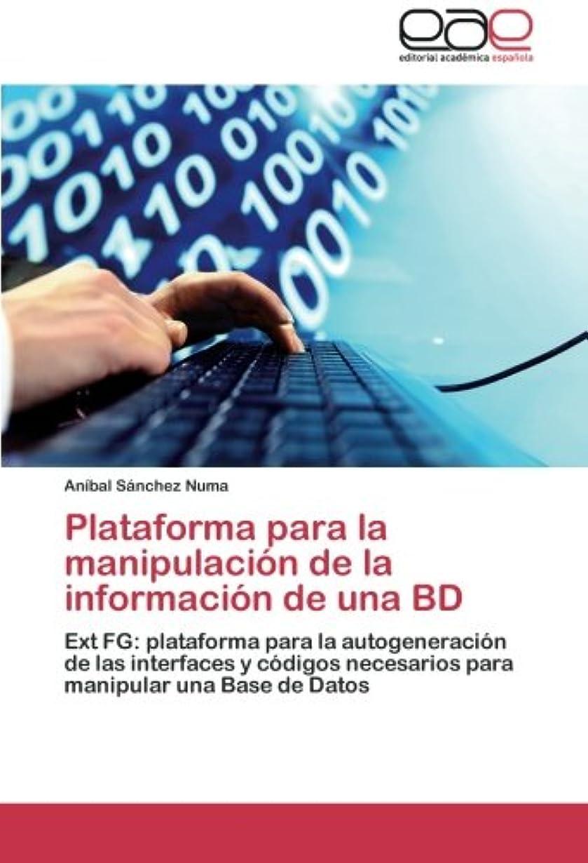 手術肌寒い実際のPlataforma Para La Manipulacion de La Informacion de Una Bd