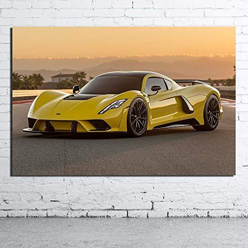 Sportwagen Leinwand Ölgemälde Poster drucken Wohnzimmer Wandbilder-Rahmenlos50x75cm