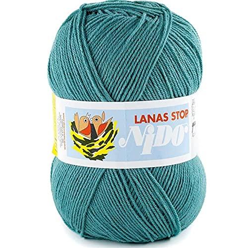 Lanas Stop Nido Ovillo de Color verdemar Cod.537