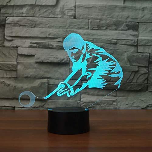 3D Billard Spielen Lampe Led Nachtlicht Mit Fernbedienung, 7 Farben Wählbar Dimmbare Nachttisch Nachtlampe Geburtstag Geschenk, Spielzeug Geschenke Für Männer Frauen Kinder