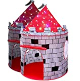 LimitlessFunN Kids Knight Castle Play Tent Bonus Star Lights & Carrying Case [ Pop Up Portable Glow in The Dark Stars ] Children Playhouse for Girls & Boys, Indoor & Outdoor Use