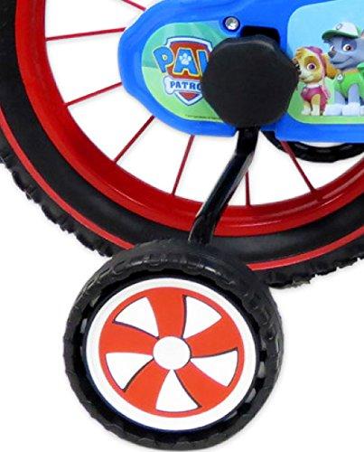 Pat Patrol - Bicicleta de 14 Pulgadas para niño, con 2 Frenos con portabidón + bidón Trasero