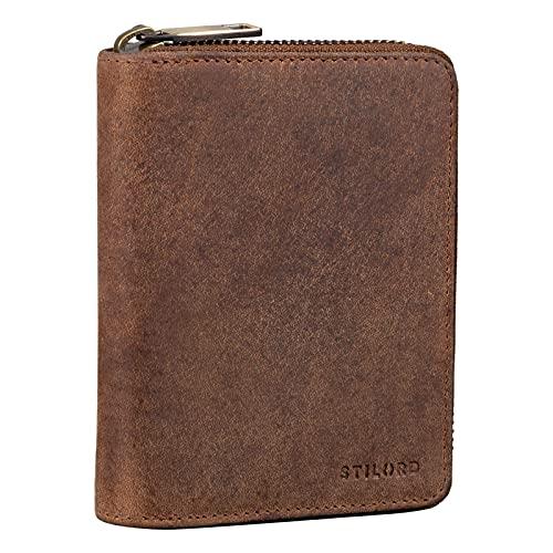 STILORD 'Paris' Monedero Vintage Mujer Cuero Cartera RFID Billetera Tarjetero con NFC Protección Slim Wallet para Damas Bolsillo Pequeño Vera Piel, Color:Torino - marrón
