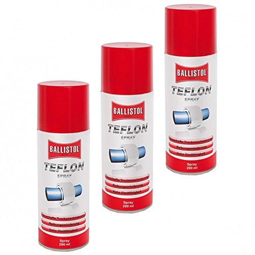 BALLISTOL Teflon® Spray 3 Dosen 200 ml Trockenschmierung PTFE Teflonspray 25600