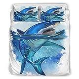 Haythan Juego de ropa de cama de 3 piezas, cómodo, ultrasuave, color blanco, 264 x 229 cm