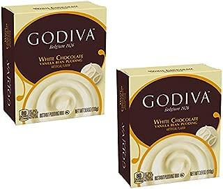 Godiva Chocolate Instant Pudding Mix Pack (White Chocolate 2Pack)