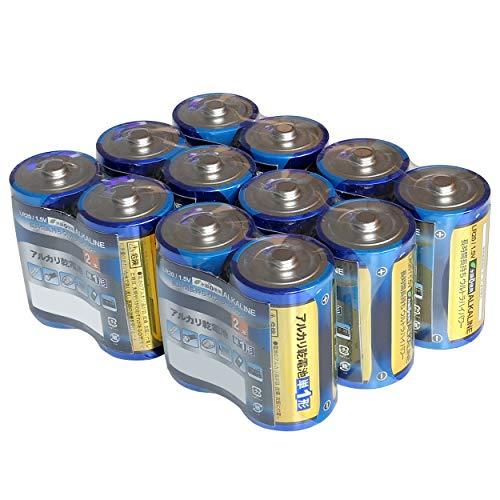 単一電池 12本 アルカリ 単一 単1 電池 2本入り 6パック あわせ買い まとめ買い 備蓄 防災 防災グッズ 長持ち