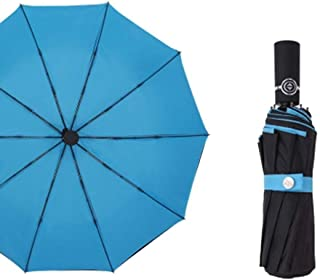 Umbrella Windproof Umbrella Folding Automatic Double Layer Parasol Sun Protection Ten Brackets (Size : E)