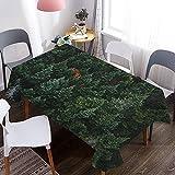Mantel de árbol Forestal 3D, Mantel Decorativo Impermeable y a Prueba de Aceite, Adecuado para Picnic, Fiesta, Cocina, Fiesta M-4 140x200cm