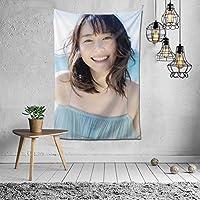 Keen Chun 新垣結衣 タペストリー 壁掛け ポスター 背景布け インテリア 部屋 装飾用品 多機能 個性 プレゼント 152×102cm