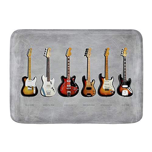 ADONINELP Felpudo Alfombras de baño,Fender Stratocaster Telecaster precisión bajo Mustang Bass Fender...