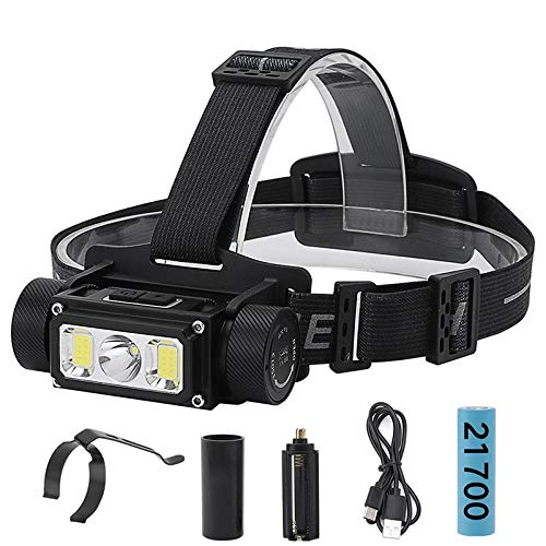 FODFKL 5000LM Super Bright L2 COB LED Headlamp Flashlight Type-C USB Rechargeable Lantern Waterproof Portable Camping Head Torch Light