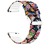Uhada Colorful Watch Bands-Width 20mm,22mm-Quick Release & Choose Color-Soft Silicone Replacement Watch Straps (20mm, Colorful-02)