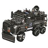 Mecotecn 496 piezas de construcción City SWAT de policía con coche a prueba de explosiones y 2 minifiguras compatibles con bloques de construcción Lego