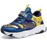Zapatillas de Deporte para de Las Muchachas Aire Zapatos para niño Casual Unisex Niños(H Azul Gold,28 EU)