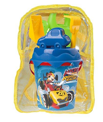 Cubos Y Palas Playa Niños Con Mochila Marca Mickey y Los Superpilotos