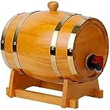 Barril de Madera, Barril de vino de madera de madera de la vendimia, barriles de cerveza del cubo de almacenamiento, dispensador de vino de barril de vino de madera duradero con soporte de madera
