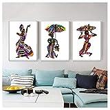 Wwjwf Ethnische Bräuche Tanzen Mädchen Frauen Abbildung