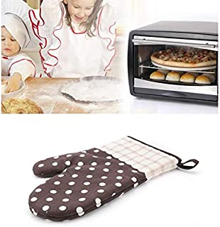 Oven Mitts Gloves Microwave BBQ Oven Cotton Baking Pot Mitts Kitchen Glove Heat Resistant Cook Gloves Mitts Cooking Baking Barbecue Potholder BBQ Mitts