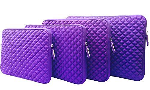 AZ-Cover 10.1-Inch Simplicity Stylish Diamond Foam Shock-Resistant Neoprene Sleeve (Purple) For Tagital T10 Plus 10.1 Inch Octa Core Tablet PC + One Capacitive Stylus Pen