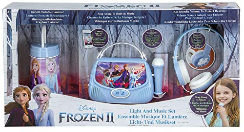 Disney Eiskönigin 2 / Frozen 2 Geschenk Bundle mit Kopfhörer, Karaoke Maschine und Nachtlicht für Kinder - eKids FR-300