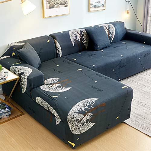 Z IMEI High Stretch Sofabezug L-Form Schnitt Sofa Couch-abdeckungen Schmutzabweisend Sessel 2-sitzer 3-sitzer Sofa Überwurf Liege-Abdeckung-i L-Form 4+4 Sitze
