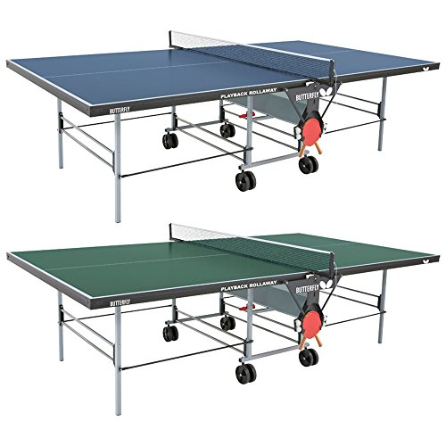 "Butterfly Playback 19 Table Tennis Table - 3/4"" Ping Pong Table Top - Folding Ping Pong Table with Wheels - Ping Pong Paddle and Balls Holder - Free Ping Pong Net"