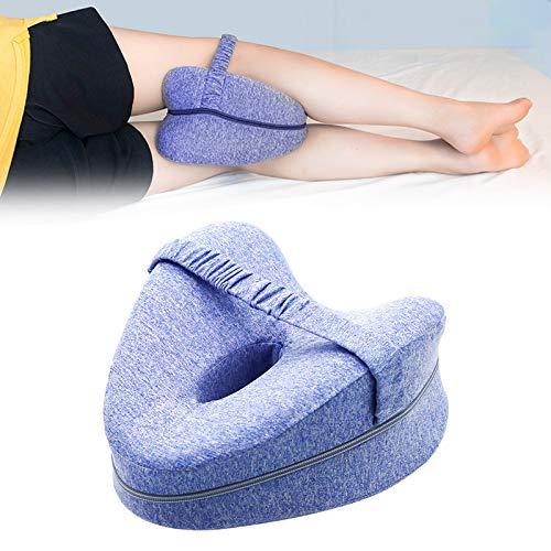 Genliloor Kniekissen Seitenschläfer Leg Pillow - Kniekissen Seitenschläfer Orthopädisches Memory Foam Kissen Seitenschläfer Stützt Beine Knie Rücken (Blau)