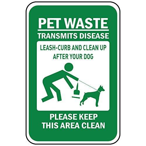 Huisdier Afval zendt ziekte Leash-Curb Clean Up Hond Houd Schone Vinyl Stickers Teken Zelfklevende Labels Sticker Decal Tekenen Grappige 9X12 In