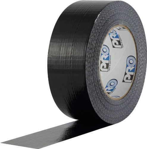 """ProTapes Pro Duct 100 PE-Coated Cloth Economy Duct Tape, 60 yds Length x 3"""" Width, Black (Pack of 16)"""