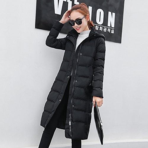 XuankuFemmes Manteau En Coton Longue Section De L'Hiver Vêtements En Coton Et De Couettes En Coton Léger, Et Sau Veste Pour Femmes