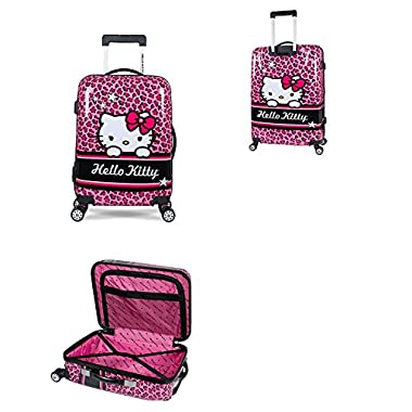 iFLY Hello Kitty Polycarbonate Hardshell Rolling Luggage Case Spinner (Hello Kitty-28)
