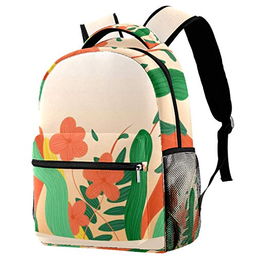 Seaweed Like Delicate Flowers Travel Laptop Backpack, Casual Durable Backpack Daypacks for Men Women for Work Office College Students Business Travel Schoolbag Bookbag