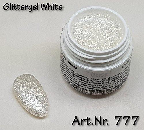 5ml UV Exclusiv Glittergel White