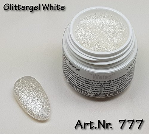 5ml UV Exclusiv Glittergel White