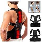 Horlite Premium Adjustable Unisex Magnetic Posture Corrector   Shoulder Back Support Belt Therapy...