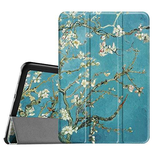 Fintie Hülle für Samsung Galaxy Tab S2 8.0 T710 / T713/ T715 / T719 (8 Zoll) Tablet-PC - Ultra Schlank Superleicht Ständer SlimShell Cover Schutzhülle mit Auto Schlaf/Wach Funktion, Mandelblüten