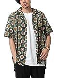 [ジップファイブ] ZIP FIVE 半袖オープンカラーシャツ 17115 27GREENBATIC M