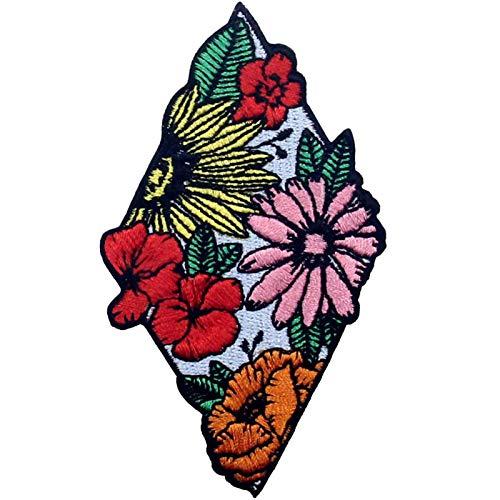 Parche termoadhesivo para la ropa, diseño de Hermosas flores de colores