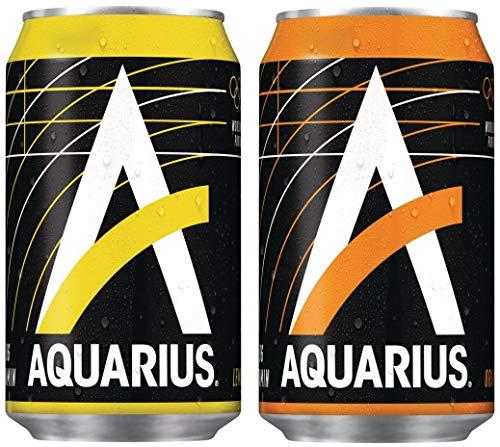 48 Aquarius Dosen 0,33L (24 x Orange 24 x Lemon) EINWEG- inkl. gratis Five Star Kugelschreiber