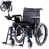 NACHENW Leichter Zusammenklappbarer Elektrischer Rollstuhl Vollautomatische Elektromagnetische Induktionsbremse Manuelle Elektrische Umschaltung Aluminiumlegierungsrahmen -