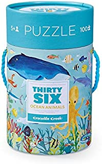 Crocodile Creek Thirty-Six Ocean 100Piece Jigsaw Puzzle in Canister Puzzle