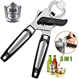 Manual Can Opener, GiniHomer Stainless Steel Can Opener with Ergonomic Designed Comfort Grips, Easy to Use