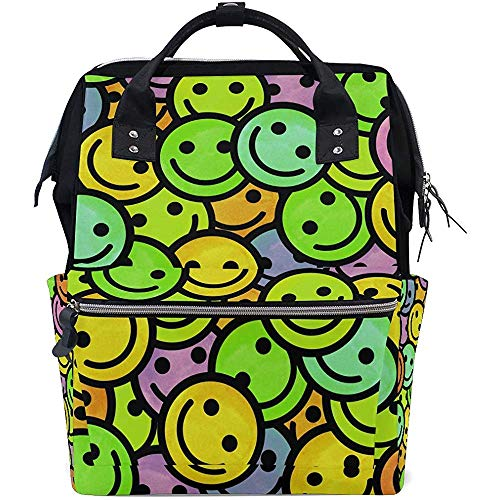 Backpack S Face Multi-Function Diaper Sacs À Dos 28X18X40Cm Zipper Backpack Mom Large Capacity Casual Baby Bags Unisex Travel Dad