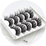 5 pairs natural false eyelashes fake lashes long makeup 3d mink lashes eyelash extension mink eyelashes for beauty sensitives,3D-48
