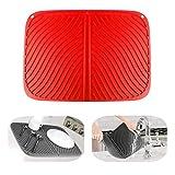 IYYI Silicone Dish Drying Mat Large Draining Mat Eco-Friendly Drainer Mat Heat Resistant Pot Mat Dishwasher Safe Trivet (Red)